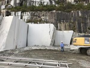 採石された切削面
